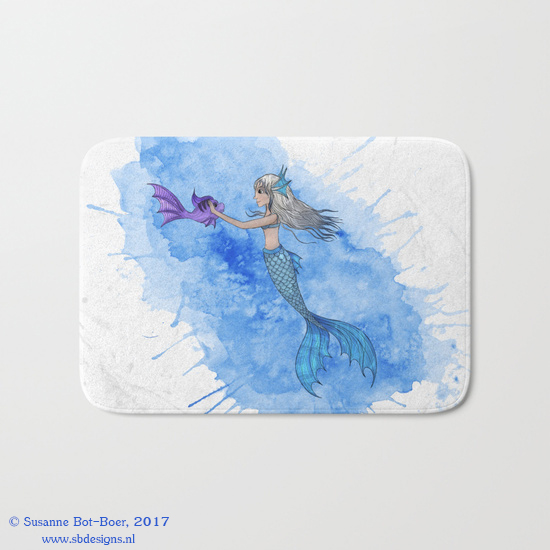 a-mermaid-and-her-friend-bathmat