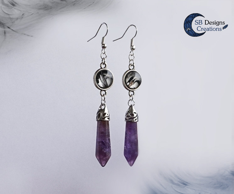 Amethyst-Earrings-SBDesignsCreations-FantasyJewelry-WitchyWays