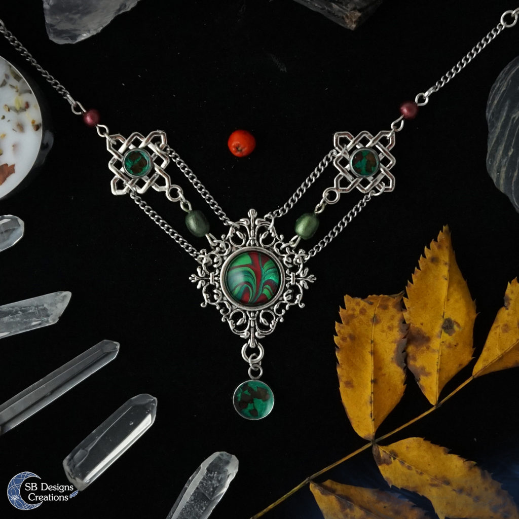 Rowan-Tree-Necklace-Pagan-Spiritual-Resin-Marble-SBDesignsCreations