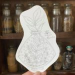 Plant-Glass-Bottle-Pencil-Sketch-Witchy-Artist