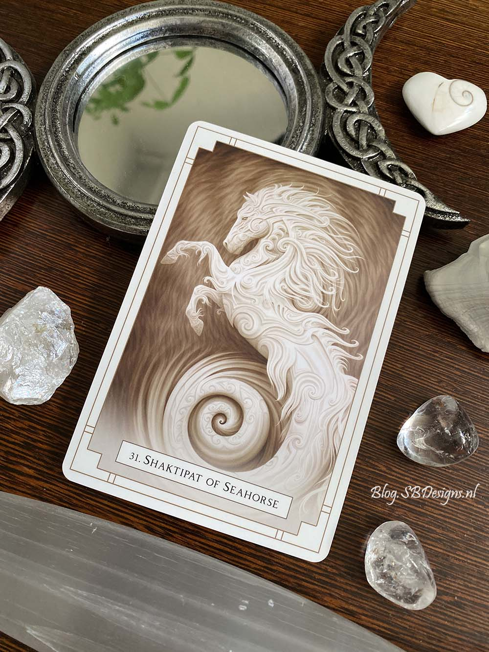 Seahorse White Light Oracle Divination